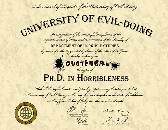 Get Your Own Ph.D In Horribleness! - Dr. Horrible - Whedonesque.com